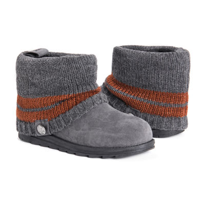 Muk Luks Womens Patti Booties Flat Heel Pull-on