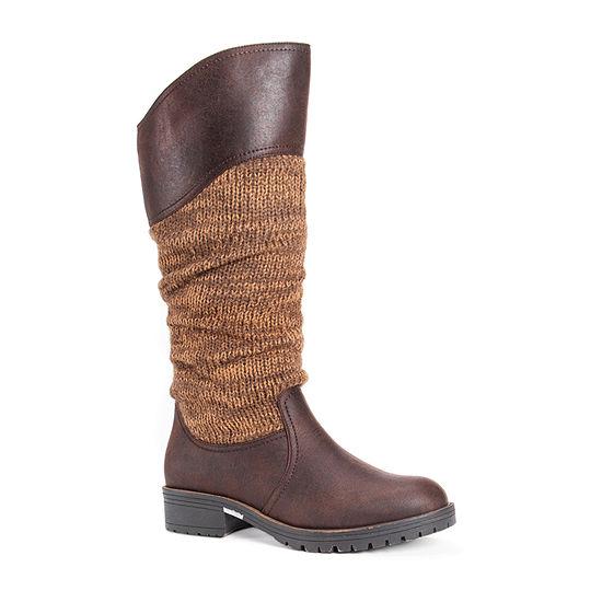 Muk Luks Womens Kailee Booties Block Heel