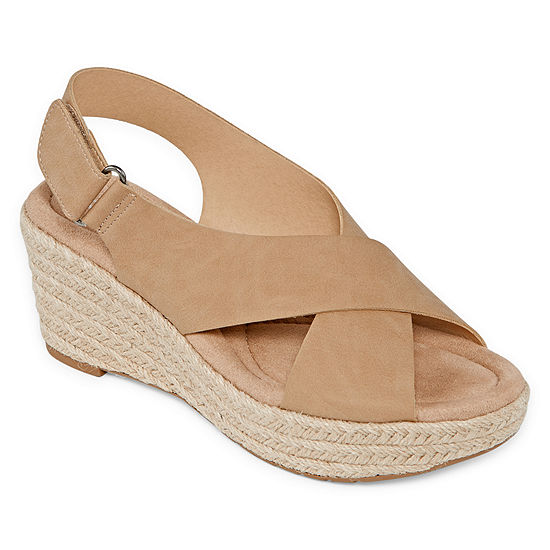 CL by Laundry Womens Dino Wedge Sandals