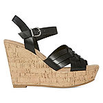 CL by Laundry Womens Cienne Wedge Sandals