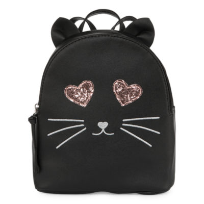 T-Shirt & Jeans Sparkle Eyes Cat Backpack