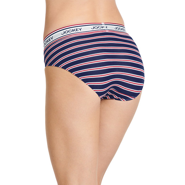 3830225a868 Jockey Retro Stripe Knit High Cut Panty- 2254