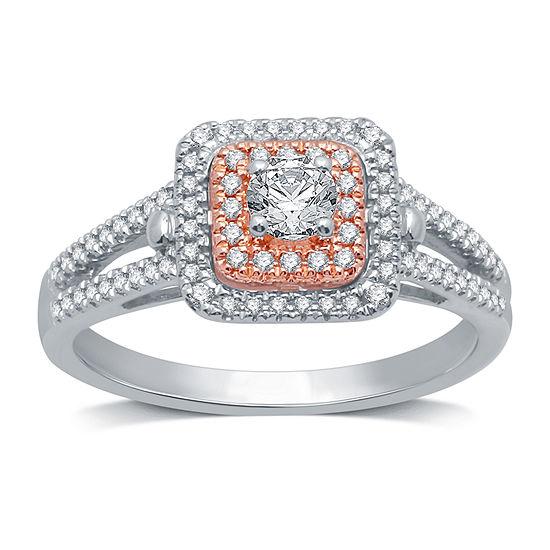 I Said Yes Womens 1/2 CT. T.W. Genuine White Diamond Engagement Ring