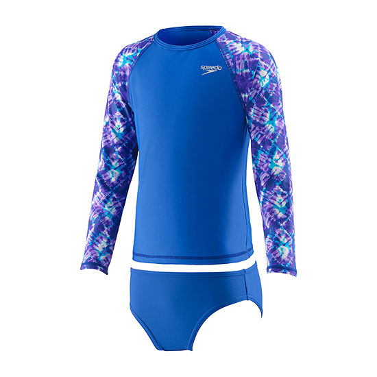 Speedo Girls Rash Guard Set Preschool
