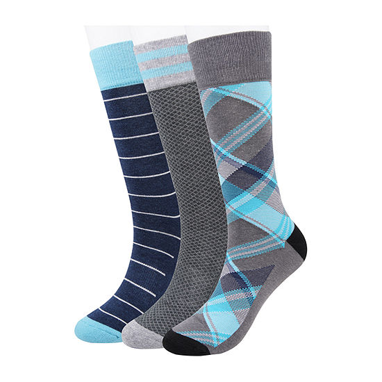 Collection by Michael Strahan  3 Pair Crew Socks-Mens