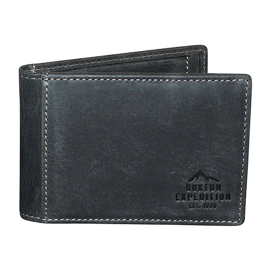 Buxton® Slim Fold Front Pocket Wallet with Money Clip