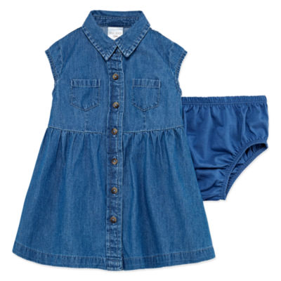 Okie Dokie Short Sleeve Cap Sleeve A-Line Dress Girls