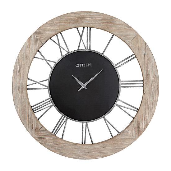 Citizen Silver Tone Wall Clock-Cc2058