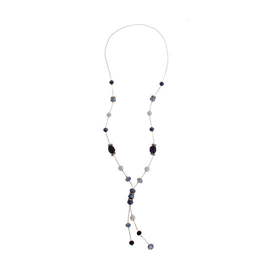 Mixit Blue 32 Inch Beaded Necklace