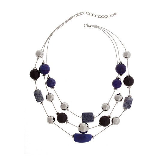 Mixit Blue 16 Inch Beaded Necklace