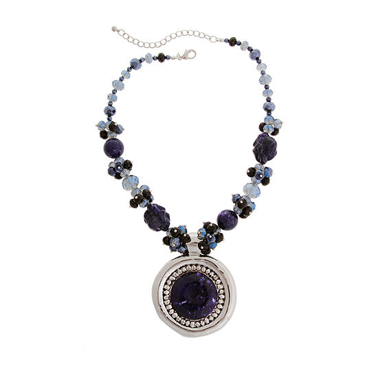 Mixit Blue 18 Inch Beaded Necklace