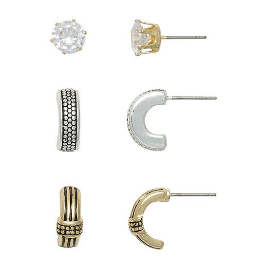 Mixit Hypoallergenic 3 Pair Earring Set