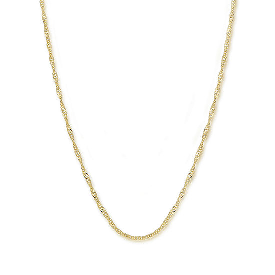 "Made in Italy 14K Gold 24"" Singapore Chain"