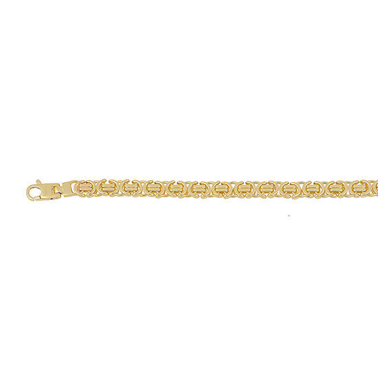 Made in Italy 10K Gold 24 Inch Hollow Link Chain Necklace