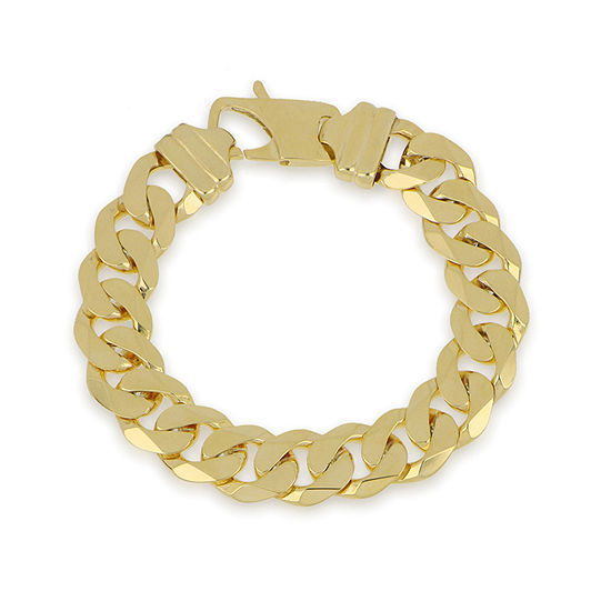 Made in Italy 10K Gold 8 1/2 Inch Curb Chain Bracelet