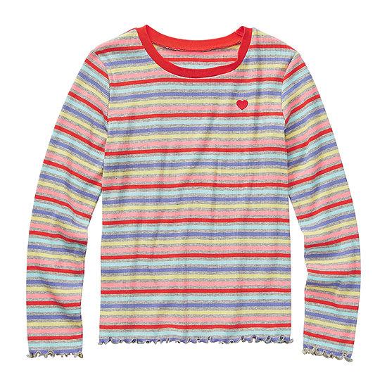 Arizona Little & Big Girls Long Sleeve T-Shirt