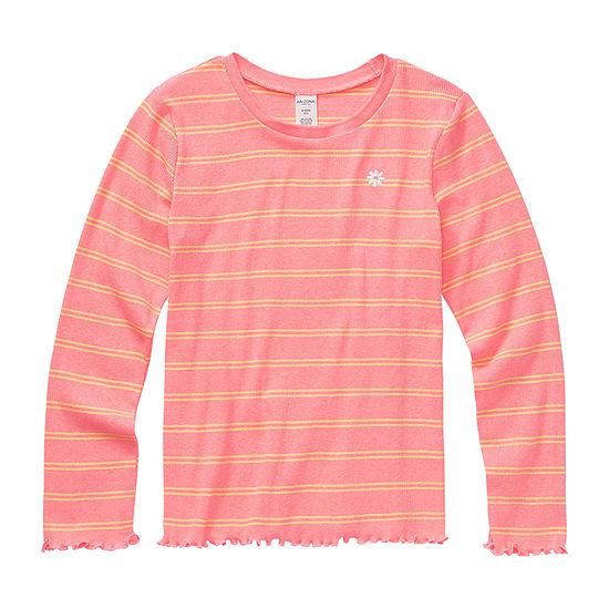 Arizona Girls Round Neck Long Sleeve Graphic T-Shirt - Preschool / Big Kid
