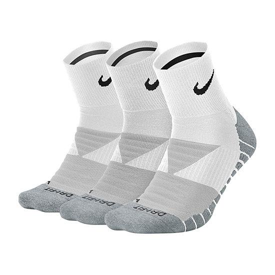 Nike Every Day Mens 3-pc. Quarter Socks
