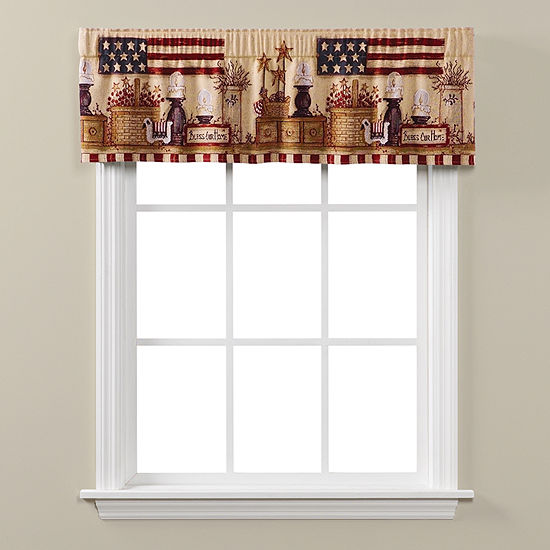 Saturday Knight Bless Our Home Rod-Pocket Tailored Valance
