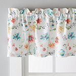 Saturday Knight Floral Dance Rod-Pocket Tailored Valance