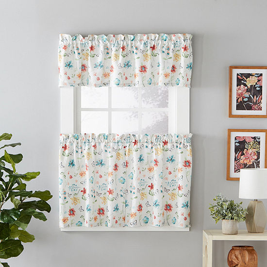 Saturday Knight Floral Dance Rod-Pocket Window Tiers