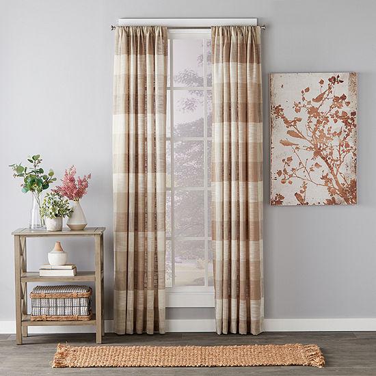 Saturday Knight Aiden Plaid Light-Filtering Rod-Pocket Single Curtain Panel