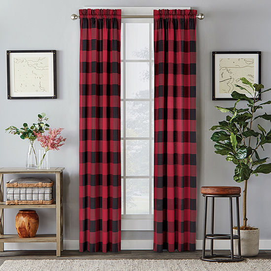 Saturday Knight Grandin Stripe Light-Filtering Rod-Pocket Single Curtain Panel