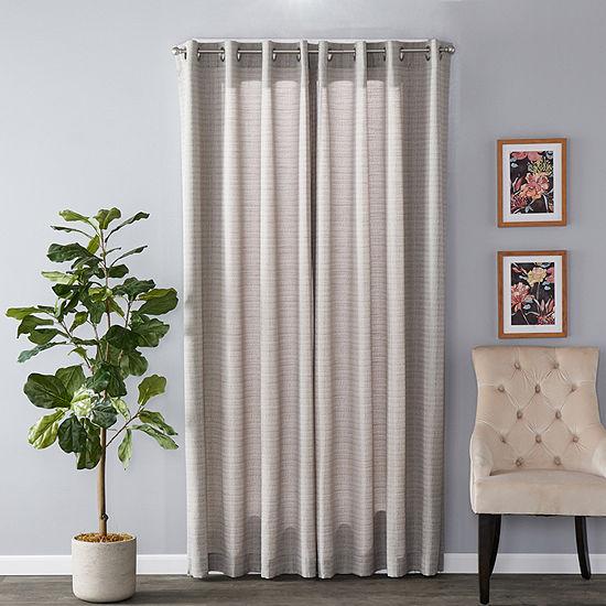 Sunsafe Maeve Pattern Light-Filtering Grommet-Top Single Curtain Panel