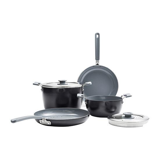 GreenPan Levels Essential 6-pc. Aluminum Dishwasher Safe Non-Stick Cookware Set