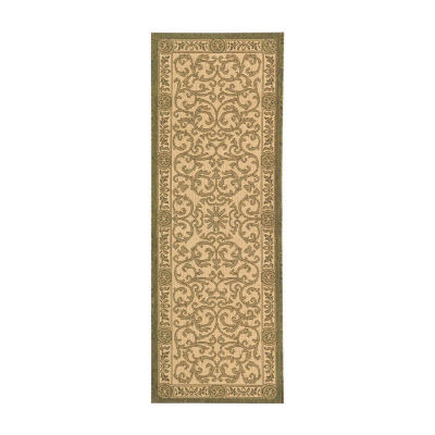 Safavieh Courtyard Collection Miah Floral Indoor/Outdoor Runner Rug