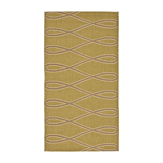 Safavieh Courtyard Collection Lasya Geometric Indoor/Outdoor Accent Rug