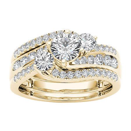 Womens 1 1/4 CT. T.W. Genuine White Diamond 14K Gold Bridal Set, 6