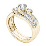 Womens 1 1/4 CT. T.W. Genuine White Diamond 14K Gold Bridal Set