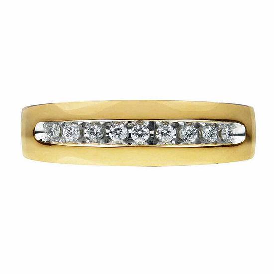 1/4 CT. T.W. Genuine Diamond 14K Gold Band