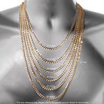 "14K Gold Glitter Rope 20-24"" 3mm Chain"