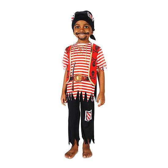 Printed Pirate Matey Child Costume Boys Costume