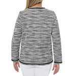 Cathy Daniels Happy Holidays Knit Shirt Jacket