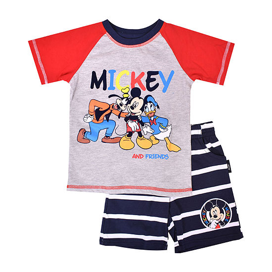 Disney Boys 2-pc. Mickey and Friends Short Set Toddler