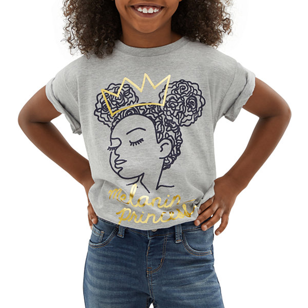 Black History Month Girls Crew Neck Short Sleeve Graphic T-Shirt