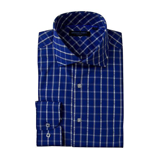 Andrew Fezze - Slim Mens Spread Collar Long Sleeve Dress Shirt