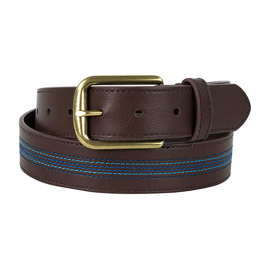 Dallas + Main Casual Striped Belt