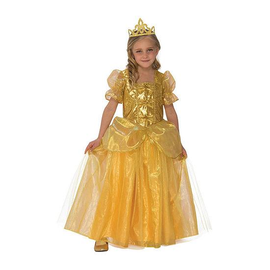 Girls Golden Princess Costume Girls Costume
