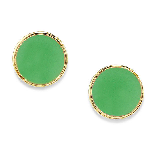 1928 14K Gold Over Brass 1/2 Inch Stud Earrings