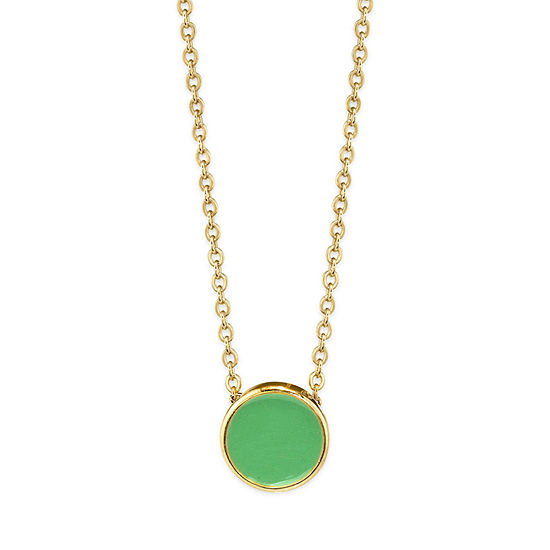 1928 14K Gold Over Brass Pendant Necklace