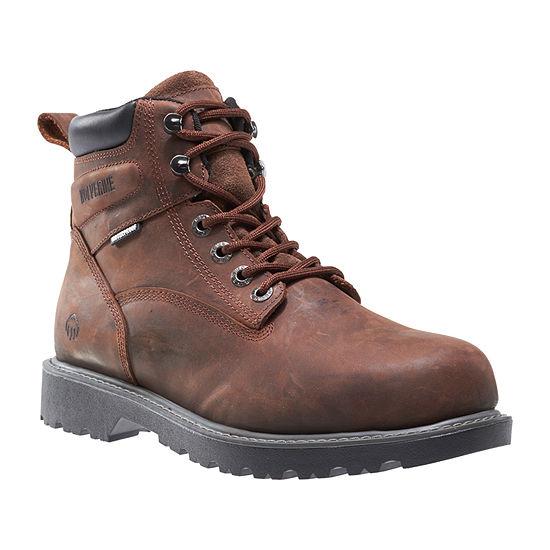 Wolverine Mens Floorhand Waterproof Water Resistant Slip Resistant Work Boots