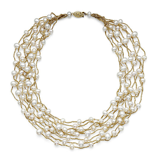 Cultured Freshwater Pearl 8-Row Illusion Necklace