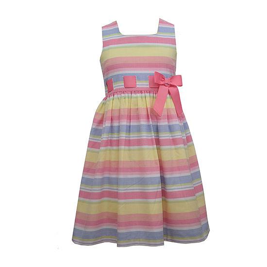 Bonnie Jean Little & Big Girls Sleeveless Striped A-Line Dress