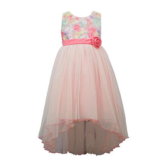 Bonnie Jean Lace Ballerina Girls Sleeveless Floral A-Line Dress - Preschool / Big Kid Plus