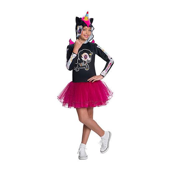 Tokidoki Girls Dia De Los Muertos Caramelo Unicorno Costume
