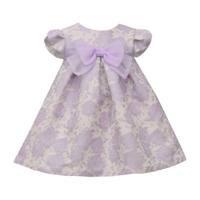 Bonnie Jean - Baby Girls Short Sleeve Floral A-Line Dress